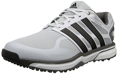 adidas Men's Adipower s Boost Golf Shoe, Clear Grey/Black/Bold Orange, 11 M US