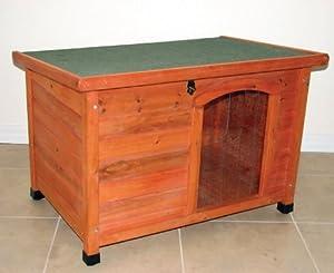 Slant Roof Dog House Size Medium 27 5 H X 41 W X 2