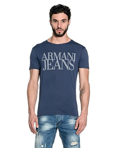 Armani Jeans T-Shirt Manica Corta A6H11-Mt M8 [Blu]