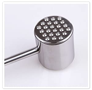 304 Stainless Steel Steak Meat Tenderizer knock beef Hammer Kitchen DIY Tool by Hwydo