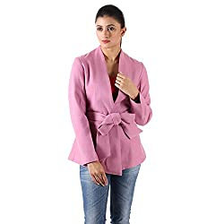 Pink Wool Jacket With Belt 4