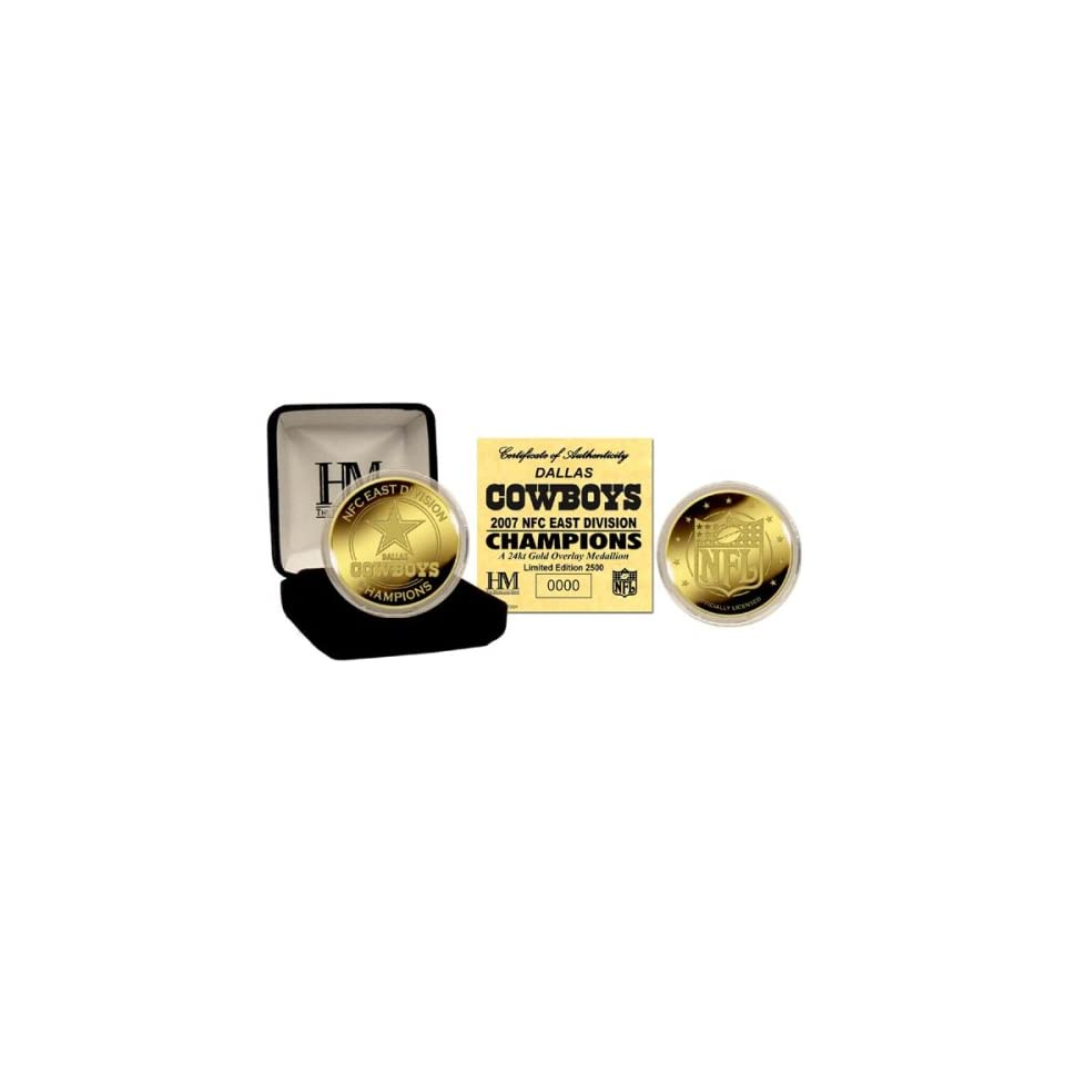 DALLAS COWBOYS 2007 NFC East Division Champions 24KT GOLD COIN By Highland  Mint 12a15d442