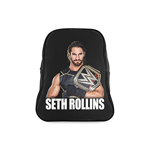 [DOROT Classic WWE Summer Slam 2016 Seth Rollins Children School High-grade PU Leather Backpack Bag Shoulder] (Randy Orton Costume)