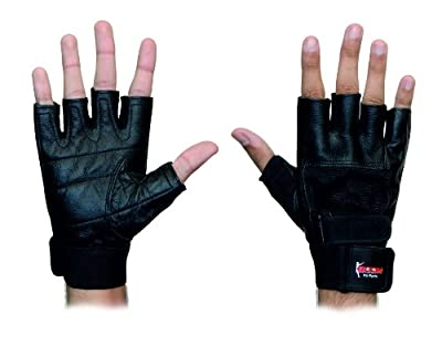 BOOM Pro Leather Gym Gloves,Body Building,Cycling,Weight Lifting,Fitness and excercise (FREE UK SHIPPING) by BOOM Pro