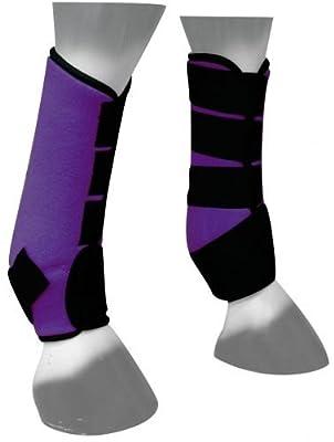 Neoprene Sport horse boots (Purple)