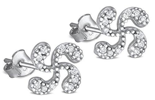 Adens-Jewels-Bijoux-Basques-Croix-Basque-Boucles-doreille-Argent-Femme-zirconites-Puces-Diamtre-7mm