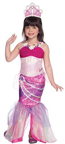 Rubies Barbie and The Pearl Princess Deluxe Lumina Costume, Child Small - 1