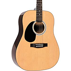Rogue RG-624 Left-Handed Dreadnought Acoustic Guitar Natural by Rogue
