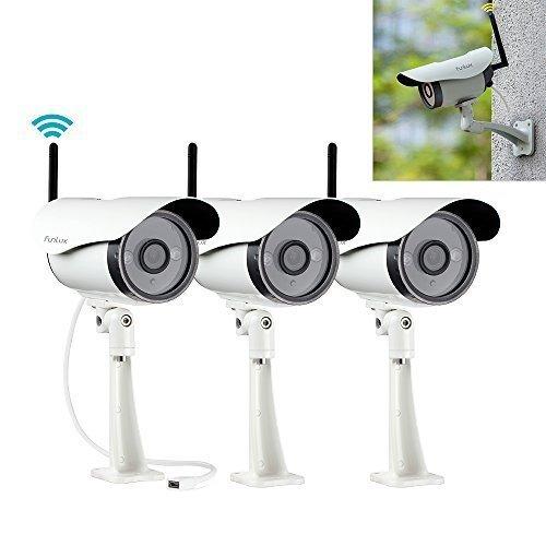 Funlux Lot of 3 Wireless 720P HD Surveillance Cameras Wifi