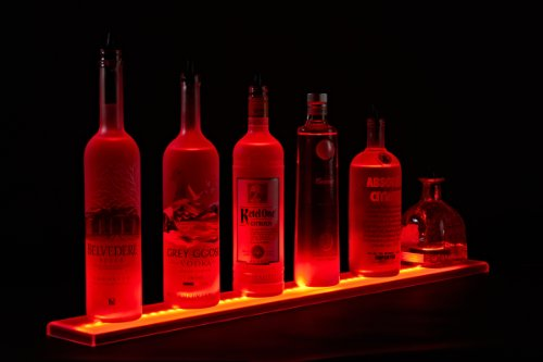 "49"" Led Lighted Bar Liquor Shelves , Led Liquor Bottle Shelf,4 Ft 1 Inches Long Display With Remote Control"