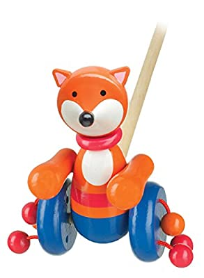 Wooden Fox Push a long Toy for Toddlers
