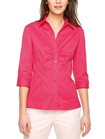 SIR Oliver Damen Regular Fit Bluse 11.403.19.1888, Gr. 34, Violett (teaberry)