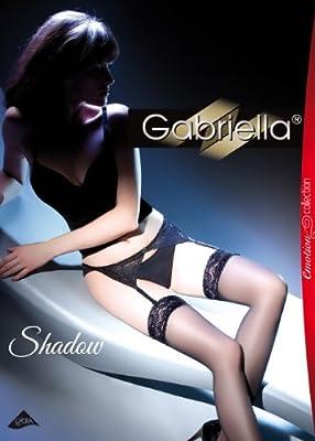 Gabriella - Exklusives Damen Set - Transparente Strümpfe 15 DEN mit Gürt