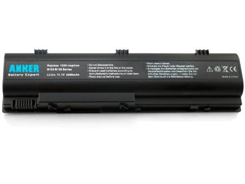 Anker� New Laptop Battery for Dell Inspiron 1300 B130 B120; Latitude 120L fits KD186 XD187 312-0416 TD611 TD612 YD120 TT720 XD184 TD429 451-10289 312-0366 UD532 UD535 WD414 HD438 0XD184 0WD414 - 18 Months Guarantee [Li-ion 6-cell 4400mAh]