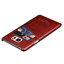 abcsell Leather Card Slot Shell Case for Samsung Galaxy Note 5