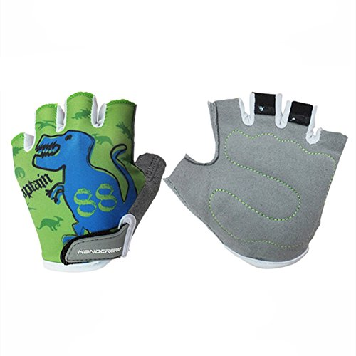 Handcrew Kids Racing Cycling Glove Childens Half Finger Gloves for Bike Unisex Outdoor Glove for Boys and Girls