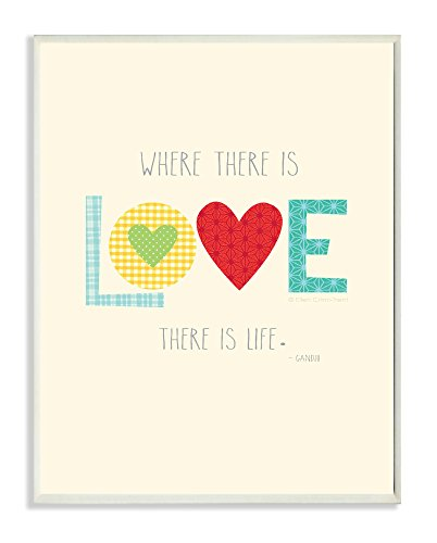 The Kids Room by Stupell Where There is Love There is Life Rectangle Wall Plaque - 1
