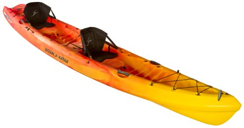 Ocean Kayak 16-Feet x 4.5-Inch Zest Two Expedition Tandem Sit-On-Top Touring Kayak, Sunrise