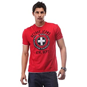Octave Men T Shirts S 185 Red