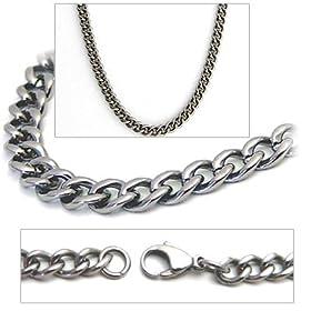 4.3mm Titanium Mens Curb Link Necklace Chain 26