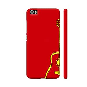Colorpur Yellow Guitar On Red Designer Mobile Phone Case Back Cover For Xiaomi Mi 5 | Artist: Miraculous