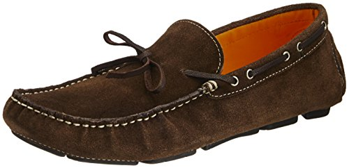 Famozi Famozi Men's Leather Loafers And Mocassins (Black)