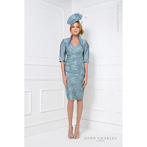 John Charles 25786 Mother of Bride Outfit Ocean