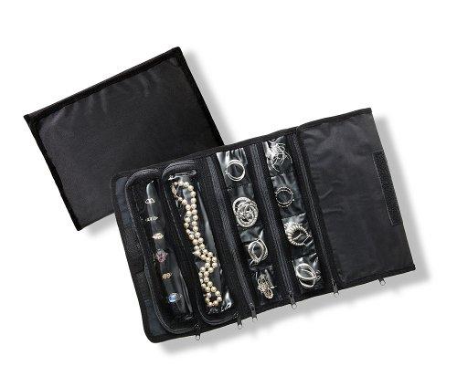 jewelry organizer black lined with anti tarnish