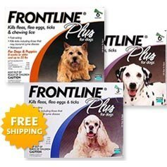 Frontline Plus for Dogs, For Dogs Blue,23-44 lbs. 3 Month Supply by Merial [Pet Supplies]  цены