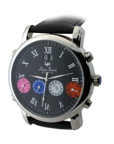 mens lucien piccard automatic 4 eye date 26581bk