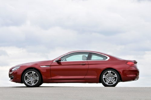 """Bmw 640D Xdrive Coupe (2012) Car Art Poster Print On 10 Mil Archival Satin Paper Red Side Static View 20""""X15"""""""