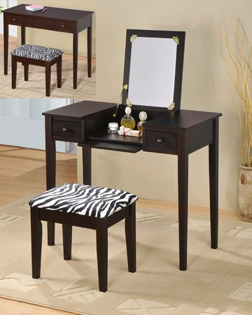Wood Vanity Set with Flip Mirror Top/ Espresso Finish
