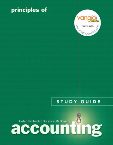 Principles of Accounting Study Guide