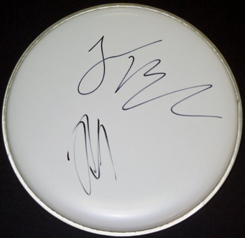 Jack Black And Kyle Gass Autographed/ Hand Signed Tenacious D Drum Head - Free Shipping