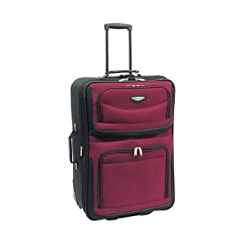 Traveler's Choice Amsterdam 25 in. Expandable Rolling Upright (Burgundy/Black)