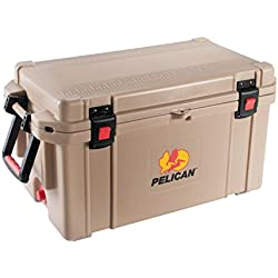 Pelican ProGear 65 Quart Elite Ice Chest Cooler, Tan