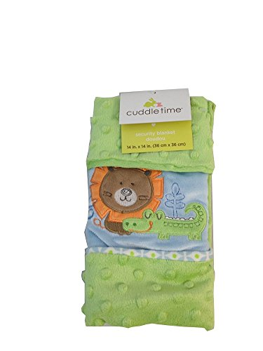 Cuddle Time Jungle Themed Lion and Alligator Security Blanket 14