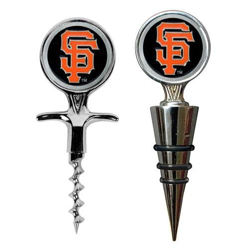 San Francisco Giants MLB Cork Screw and Wine Bottle Topper Set