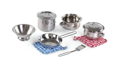 Step2 Cooking Essentials 10-Piece Stainless Steel Set
