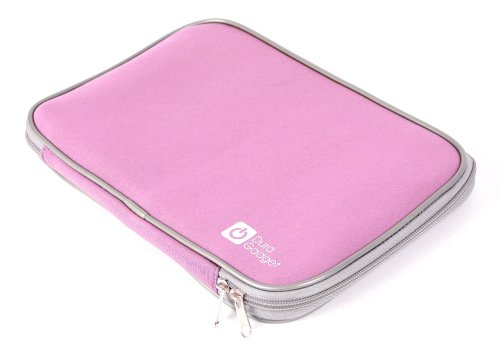 """Duragadget Baby Pink """"Travel"""" Water & Shock Resistant Neoprene Laptop Sleeve With Dual Zips And Airport Approved For Toshiba Satellite C855-S5343 Pscblu-025003, Toshiba Satellite C855D-S5340 & Toshiba Satellite C855D-S5320 15.6-Inch Laptop front-203489"""