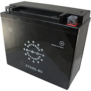 EBC CTX20LBS 12V 20Ah 230CCA Motorcycle Battery, Batteries ...