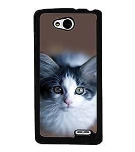 printtech Cute Kitten Eyes Back Case Cover for LG L90