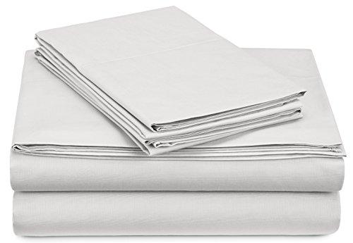 Pinzon 300-Thread-Count Percale Sheet Set - Twin Extra-Long, White