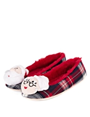 Mr. and Mrs. Claus Ballerina Slippers