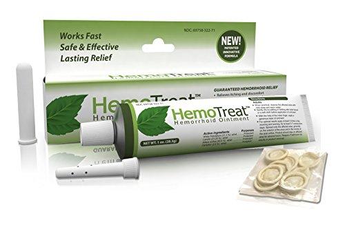 Emorroidi crema di trattamento - HemoTreat 1 Tubo con applicatore interno - veloce sicuro ed efficace Emorroidari Sintomo Relief , unguento per le emorroidi interne ed esterne