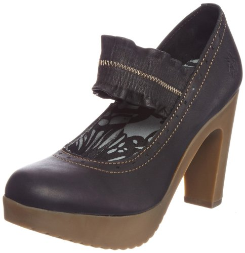 Fly London Women's Jasp Black Platforms Heels P142001004 7 UK
