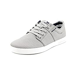 Supra Stacks II Round Toe Canvas Skate Shoe Grey 11.5 D(M) US