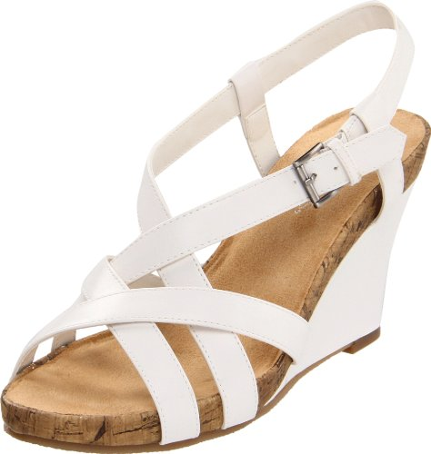 Aerosoles Women's At First Plush Sandal,White,6.5 M US