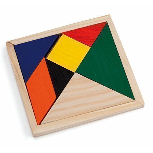 Generic - Holz Tangram Puzzle Kinder Party Preeis - Farbiges 7 Teile Puzzle