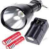 TrustFire C8-T6 5-Mode CREE LED 1000 Lumen Flashlight Torch+2PCS Battery+Charger